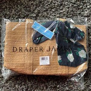 NWT DraperJames Straw Bag